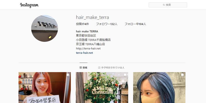 TERRA千歳船橋 Instagram